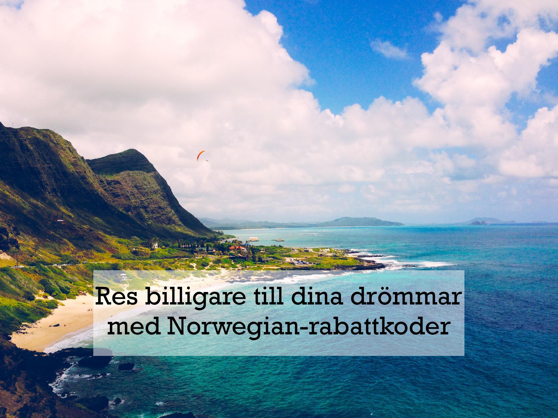 norwegian rabattkod