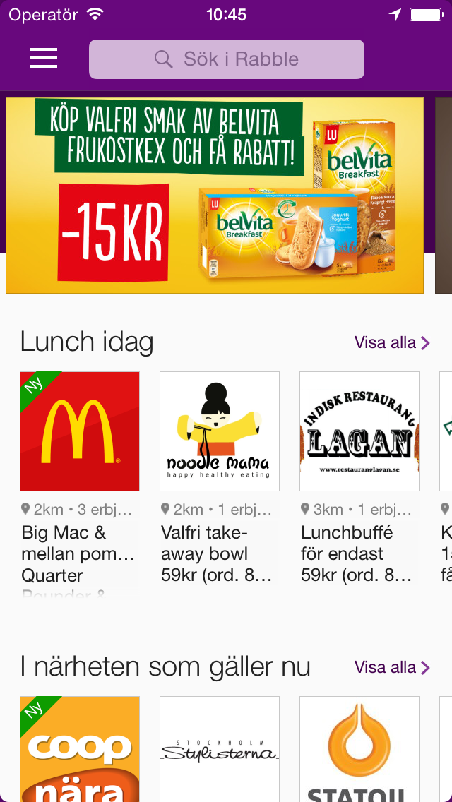Rabble på iphone