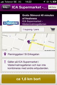 Nya kunder med Mobil rabattkupong - Gratis Stimorol i Rabble