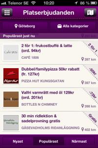 mobil marknadsföring & reklam med rabatt kupong Göteborg erbjudande Rabble