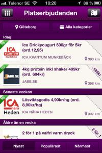 mobil marknadsföring & reklam Göteborg kupong erbjudande Rabble ica kvantum