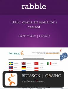 Gratis mobila erbjudanden och rabatter från Betsson